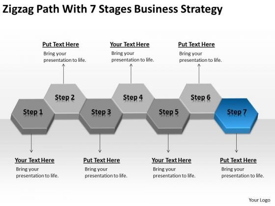 With 7 Stages Creative Marketing Concepts Ppt Simple Business Plan Outline PowerPoint Slides