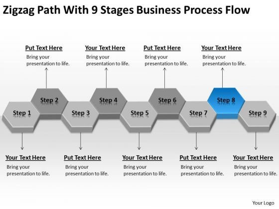 With 9 Stages Business Process Flow Ppt Plans For Small PowerPoint Slides