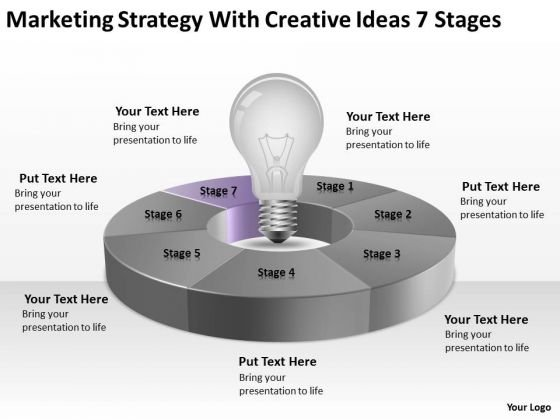 With Creative Ideas 7 Stages Ppt Writing Business Plan For Restaurant PowerPoint Slides