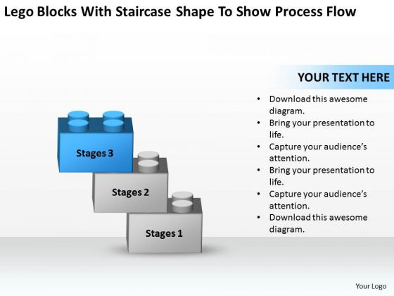 With Staircase Shape To Show Process Flow Ppt Business Plan Writers PowerPoint Templates