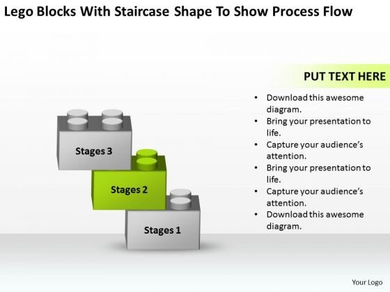 With Staircase Shape To Show Process Flow Ppt Executive Summary Business Plan PowerPoint Slides