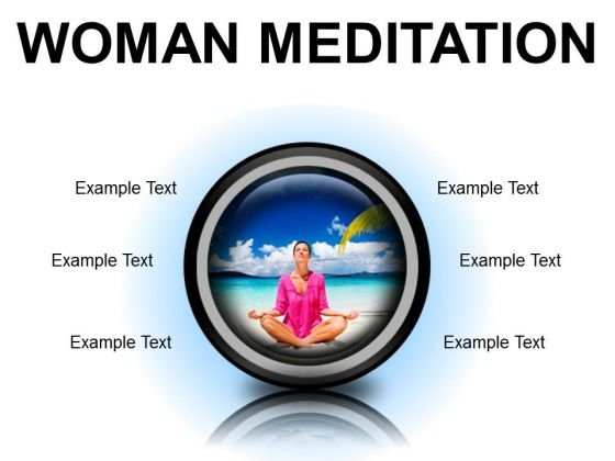 Woman Meditation Beach PowerPoint Presentation Slides Cc