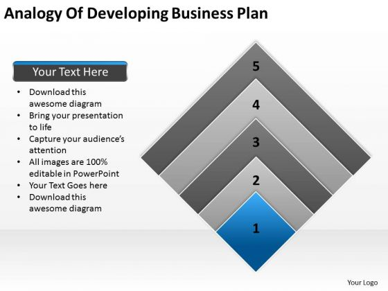 Work Flow Business Process Diagram Analogy Of Developing Plan Ppt PowerPoint Slides