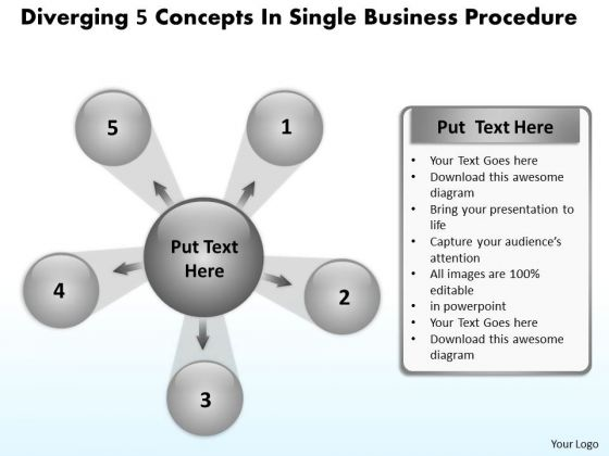 World Business PowerPoint Templates Procedure Cycle Layout Diagram