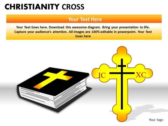 Worship Christ Cross PowerPoint Slides And Ppt Presentation Templates