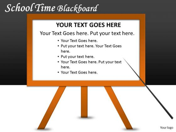 Writing Board School Time Blackboard PowerPoint Slides And Ppt Diagram Templates