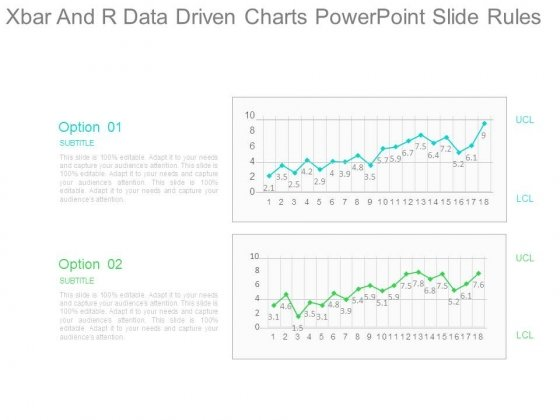 Xbar And R Data Driven Charts Powerpoint Slide Rules