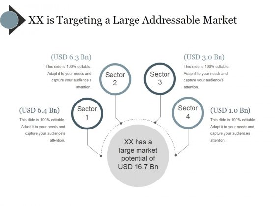 Xx Is Targeting A Large Addressable Market Ppt PowerPoint Presentation Icon Images