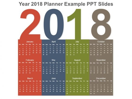 Year 2018 Planner Example Ppt Slides
