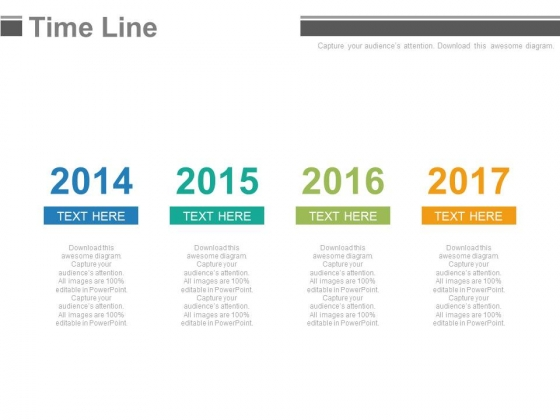 Year Base Timeline For Business Strategy And Analysis Powerpoint Slides