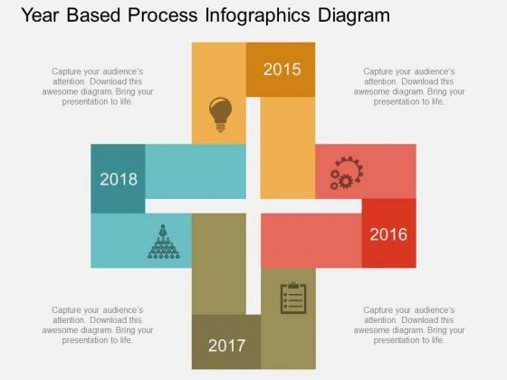 Year Based Process Infographics Diagram Powerpoint Template