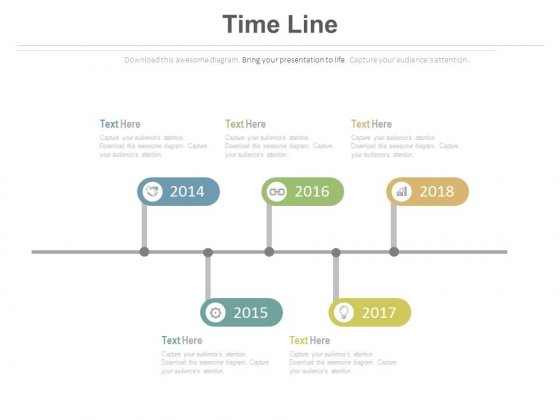 Year Based Timeline For Sales Planning Powerpoint Slides