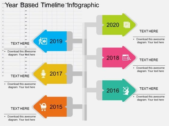 Year Based Timeline Infographic Powerpoint Templates