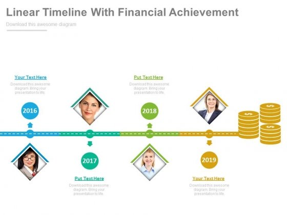 Year Based Timeline With Financial Progress Powerpoint Slides