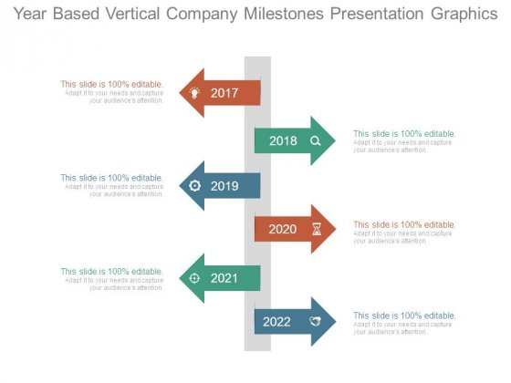 Year Based Vertical Company Milestones Presentation Graphics