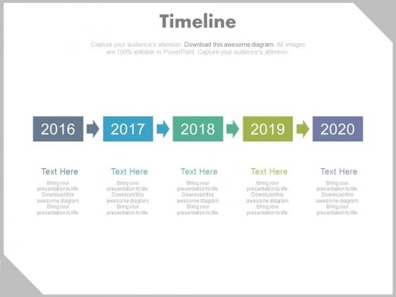 Year Tags Timeline Sequence Diagram Powerpoint Slides