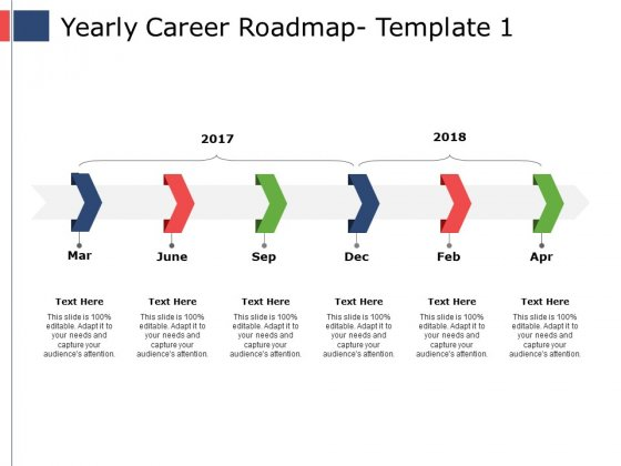 Yearly Career Roadmap Ppt PowerPoint Presentation Portfolio Themes