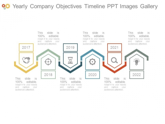 Yearly Company Objectives Timeline Ppt Images Gallery