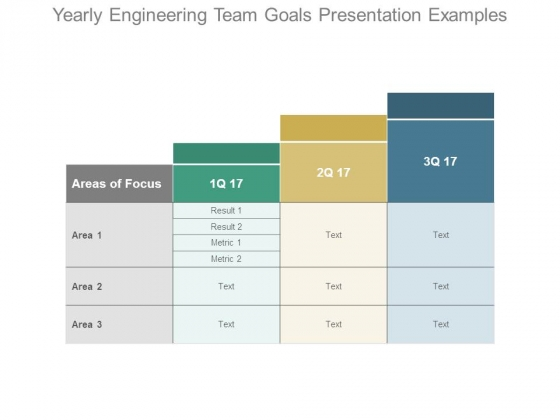 Yearly Engineering Team Goals Presentation Examples
