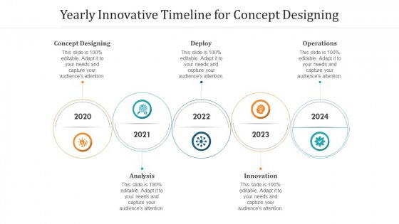 Yearly Innovative Timeline For Concept Designing Ppt Infographic Template Background Designs PDF
