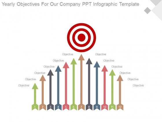 Yearly Objectives For Our Company Ppt Infographic Template