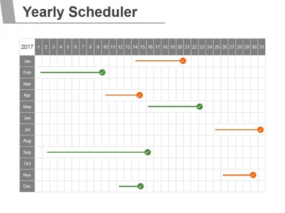 Yearly Scheduler Ppt PowerPoint Presentation Tips