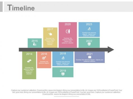 Yearly Time Scale For Planning Powerpoint Slides