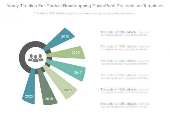 Yearly Timeline For Product Roadmapping Powerpoint Presentation Templates