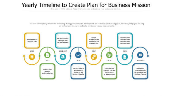 Yearly Timeline To Create Plan For Business Mission Ppt Professional Layout PDF