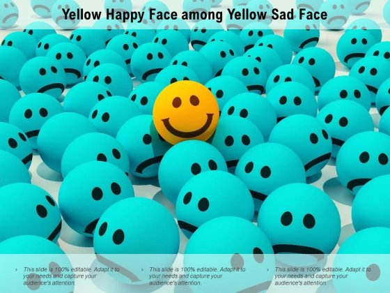 Yellow Happy Face Among Yellow Sad Face Ppt PowerPoint Presentation Ideas Format Ideas