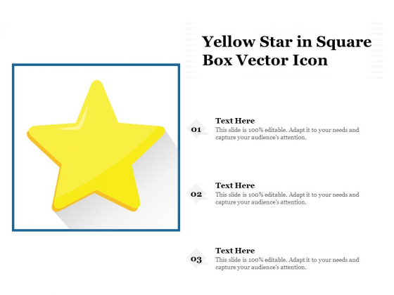 Yellow Star In Square Box Vector Icon Ppt PowerPoint Presentation Infographic Template Graphics