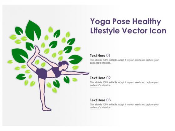 Yoga Pose Healthy Lifestyle Vector Icon Ppt PowerPoint Presentation Portfolio Graphics Tutorials