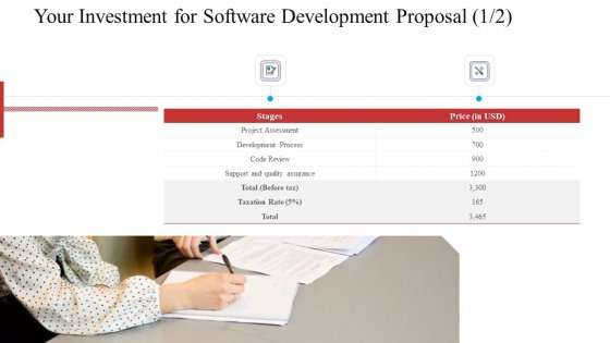 Your_Investment_For_Software_Development_Proposal_Assessment_Ppt_Gallery_Rules_PDF_Slide_1