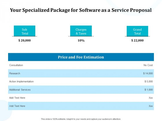 Your Specialized Package For Software As A Service Proposal Ppt Layouts Guidelines PDF