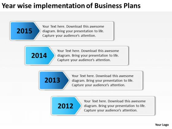 Year Wise Implementation Of Business Plans PowerPoint Templates Ppt Slides Graphics