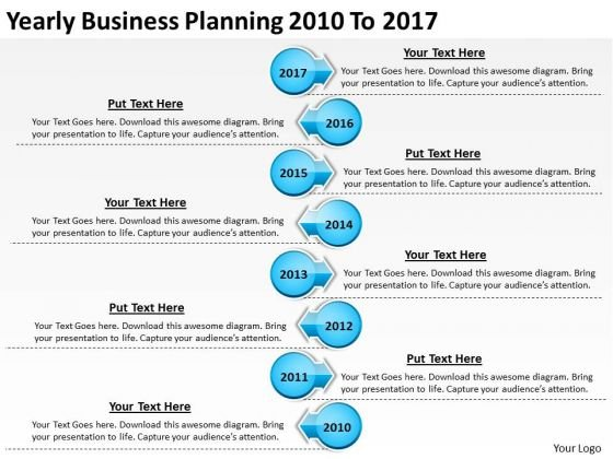 Yearly Business Planning 2010 To 2017 PowerPoint Templates Ppt Slides Graphics
