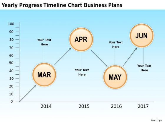 Yearly Progress Timeline Chart Business Plans PowerPoint Templates Ppt Slides Graphics