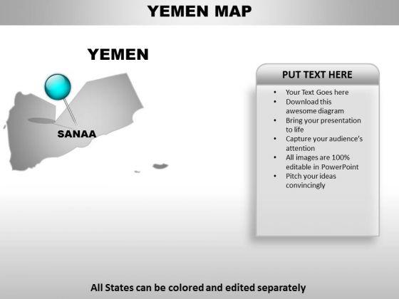 Yemen Country PowerPoint Maps
