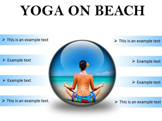 Yoga On Beach Health PowerPoint Presentation Slides C