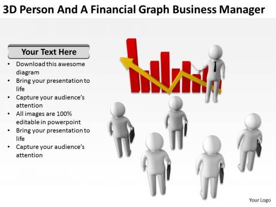 Young Business People Graph PowerPoint Templates Download Manager