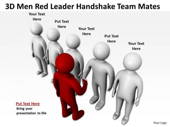 Young Business People Leader Handshake Team Mates PowerPoint Templates Ppt Backgrounds For Slides