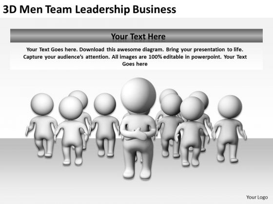 Young Business People Team Leadership PowerPoint Templates Free Download Slides