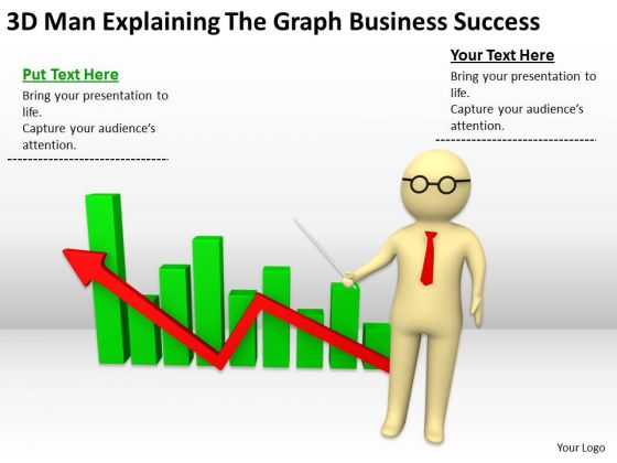 Young Business People The Graph Free PowerPoint Templates Success