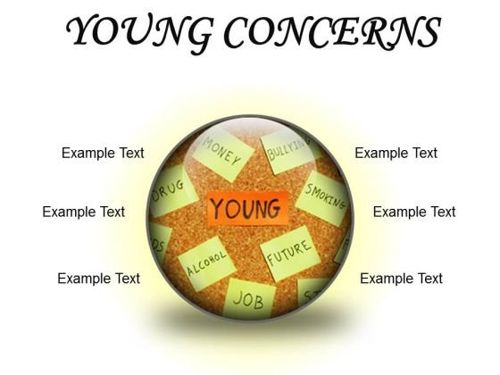 Young Concerns Metaphor PowerPoint Presentation Slides C