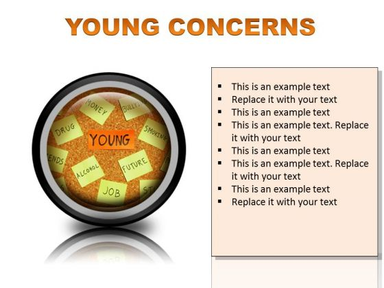 Young Concerns Metaphor PowerPoint Presentation Slides Cc