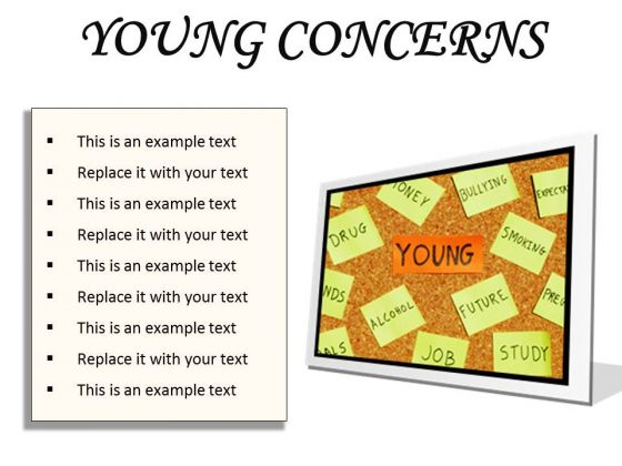 Young Concerns Metaphor PowerPoint Presentation Slides F