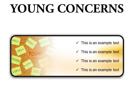 Young Concerns Metaphor PowerPoint Presentation Slides R