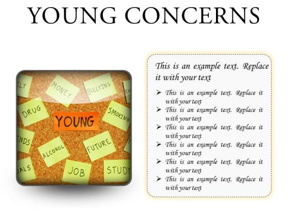 Young Concerns Metaphor PowerPoint Presentation Slides S