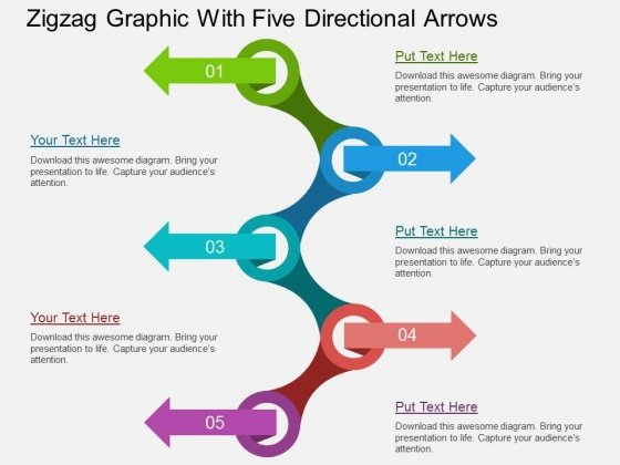 Zigzag_Graphic_With_Five_Directional_Arrows_Powerpoint_Templates_1