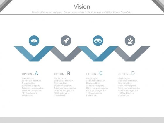 Zigzag Line With Business Vision Icons Powerpoint Slides